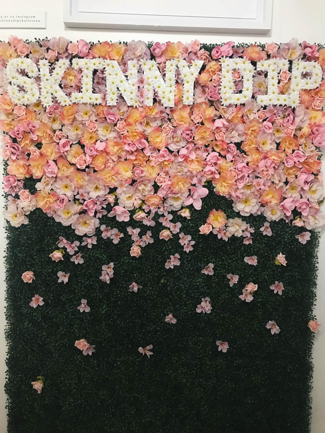 Skinny Dip Flower Wall Charleston, SC