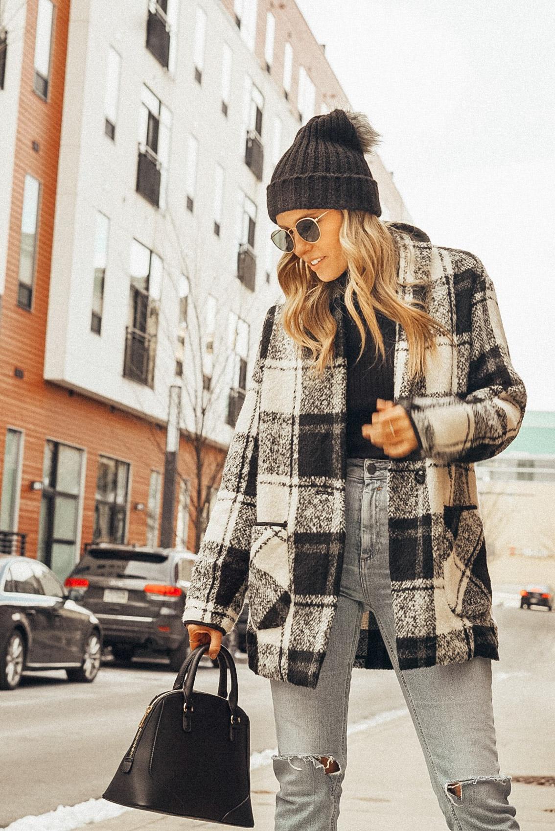 black and white jacket winter 2019