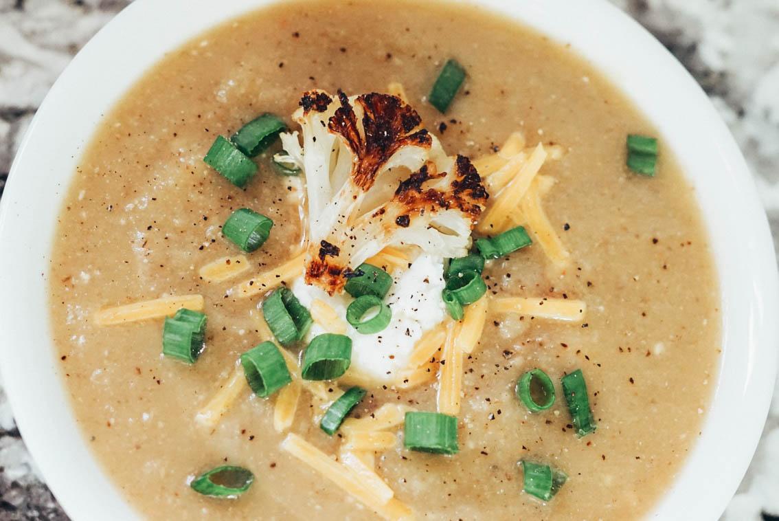 roasted cauliflower recipes - soup