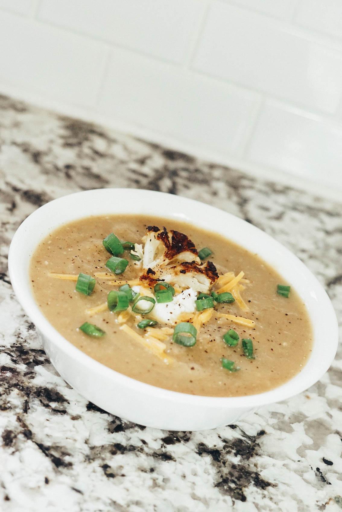 roasted cauliflower soup recipe