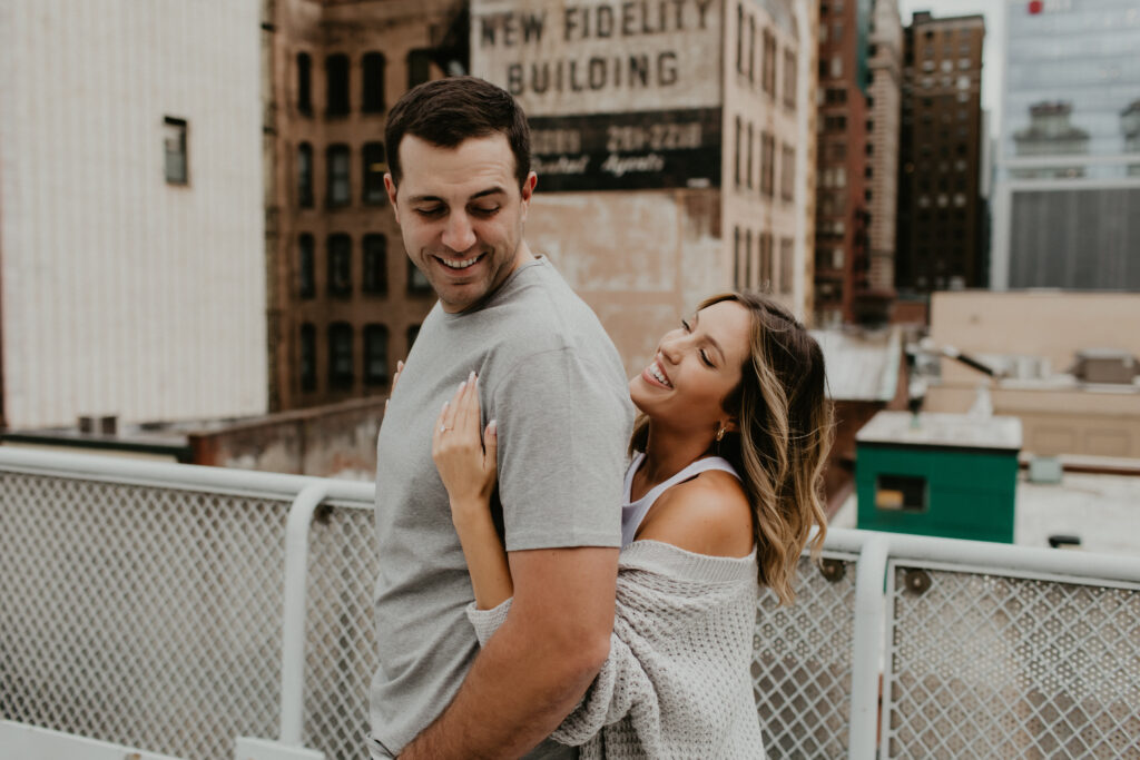 cardigan sweater engagement photos