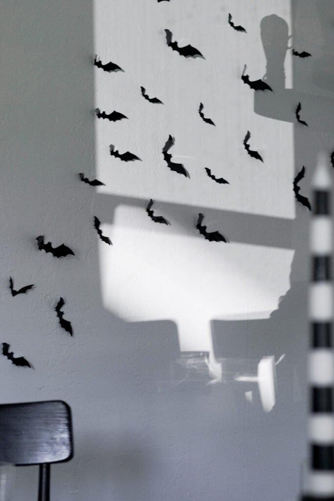 halloween bat decals on wall