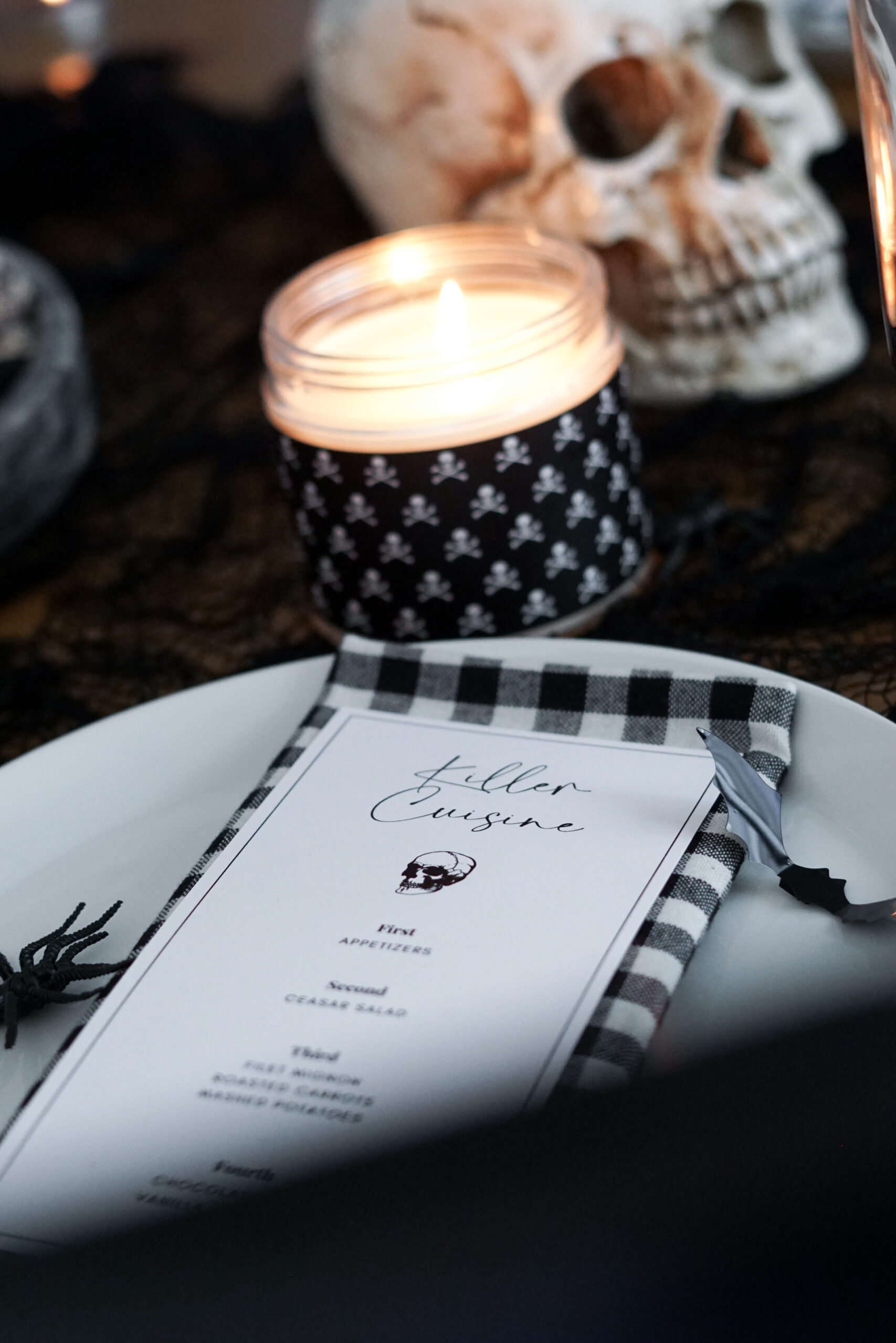 halloween dinner party menu