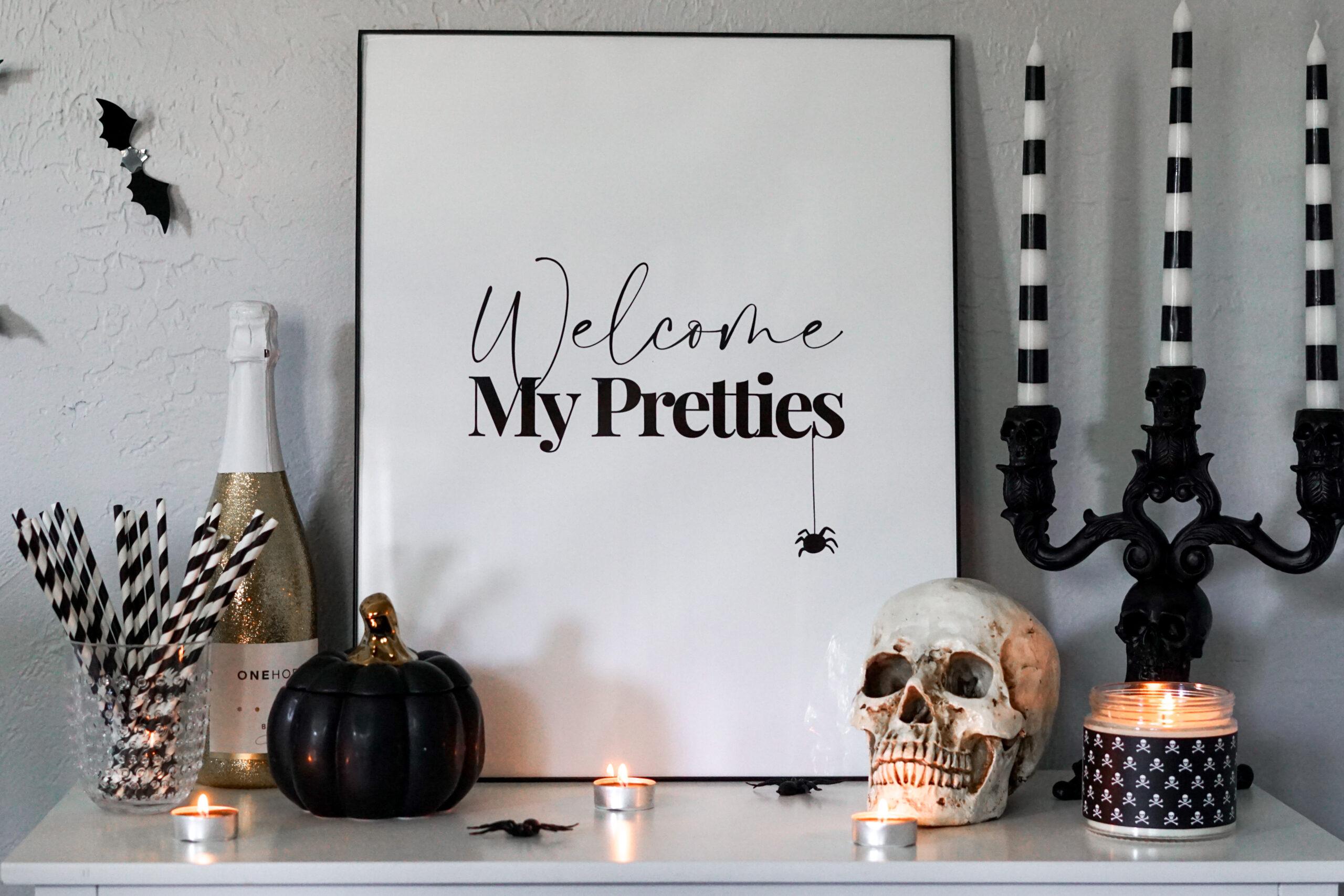 halloween sign welcome my pretties